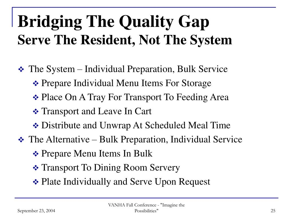 Bridging The Quality Gap