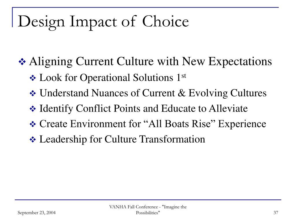 Design Impact of Choice