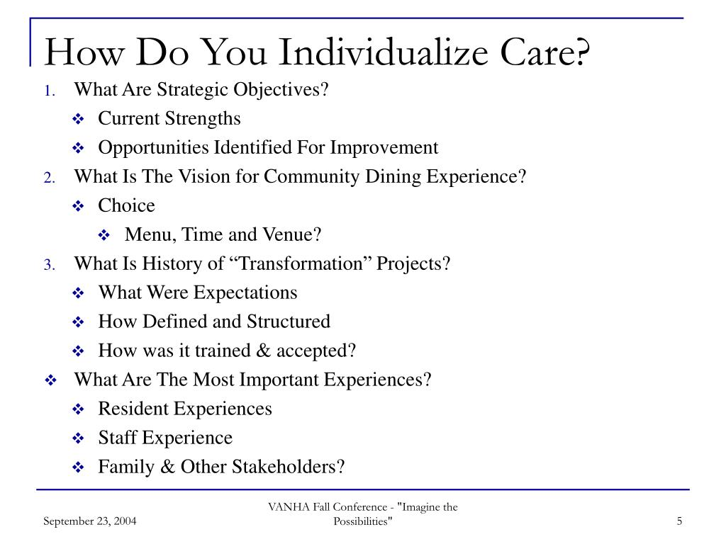 How Do You Individualize Care?