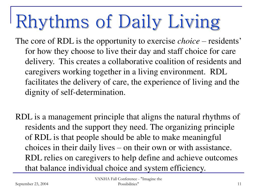 Rhythms of Daily Living