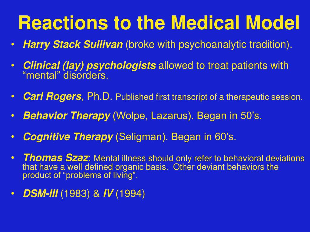 Reactions to the Medical Model