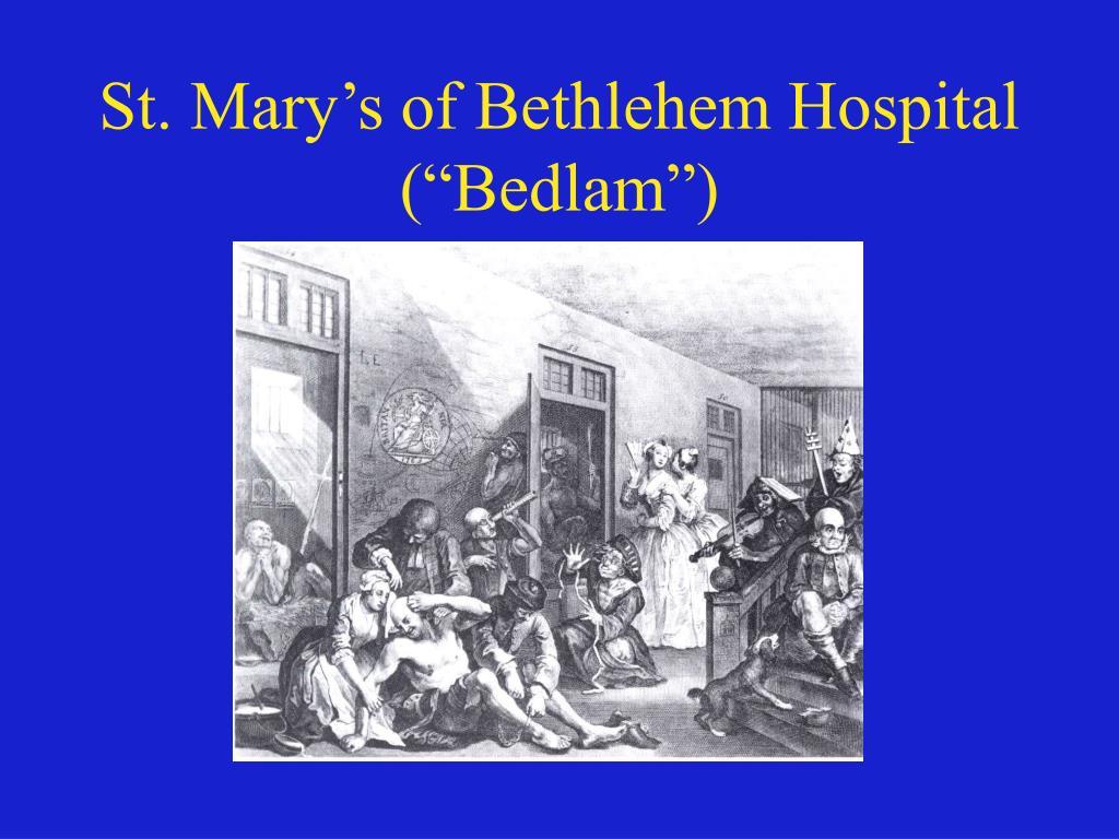 St. Mary's of Bethlehem Hospital