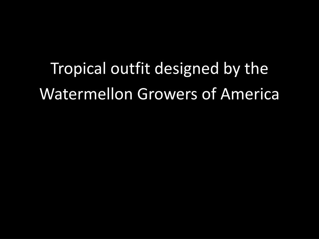 Tropical outfit designed by the