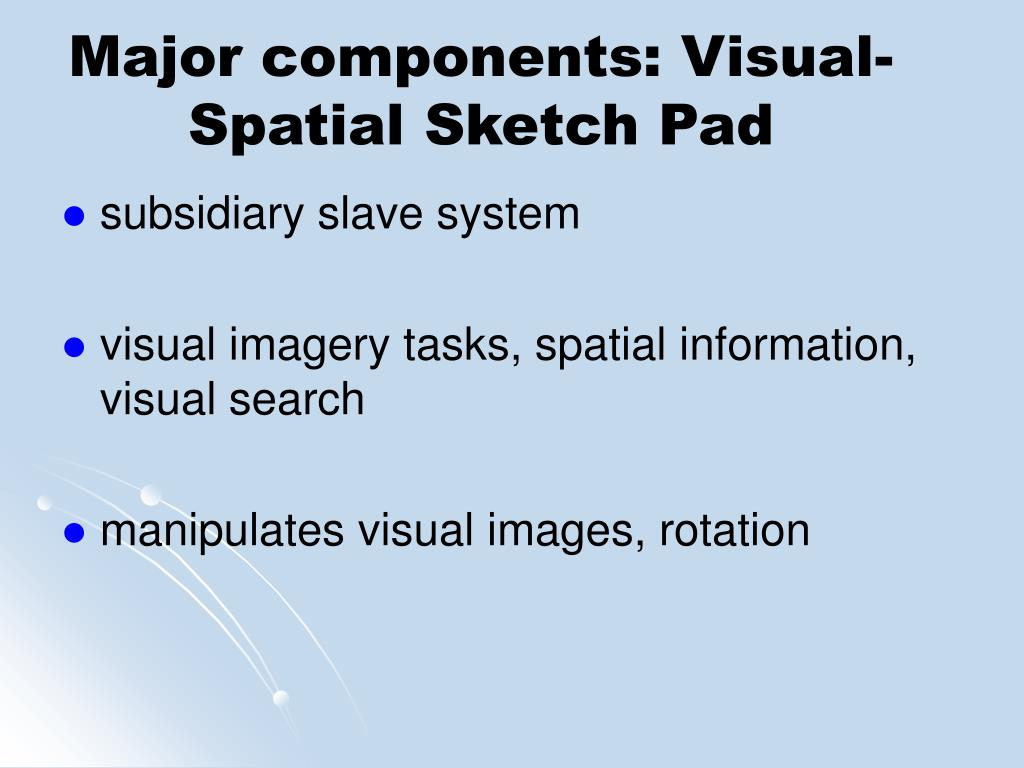 Major components: Visual-Spatial Sketch Pad