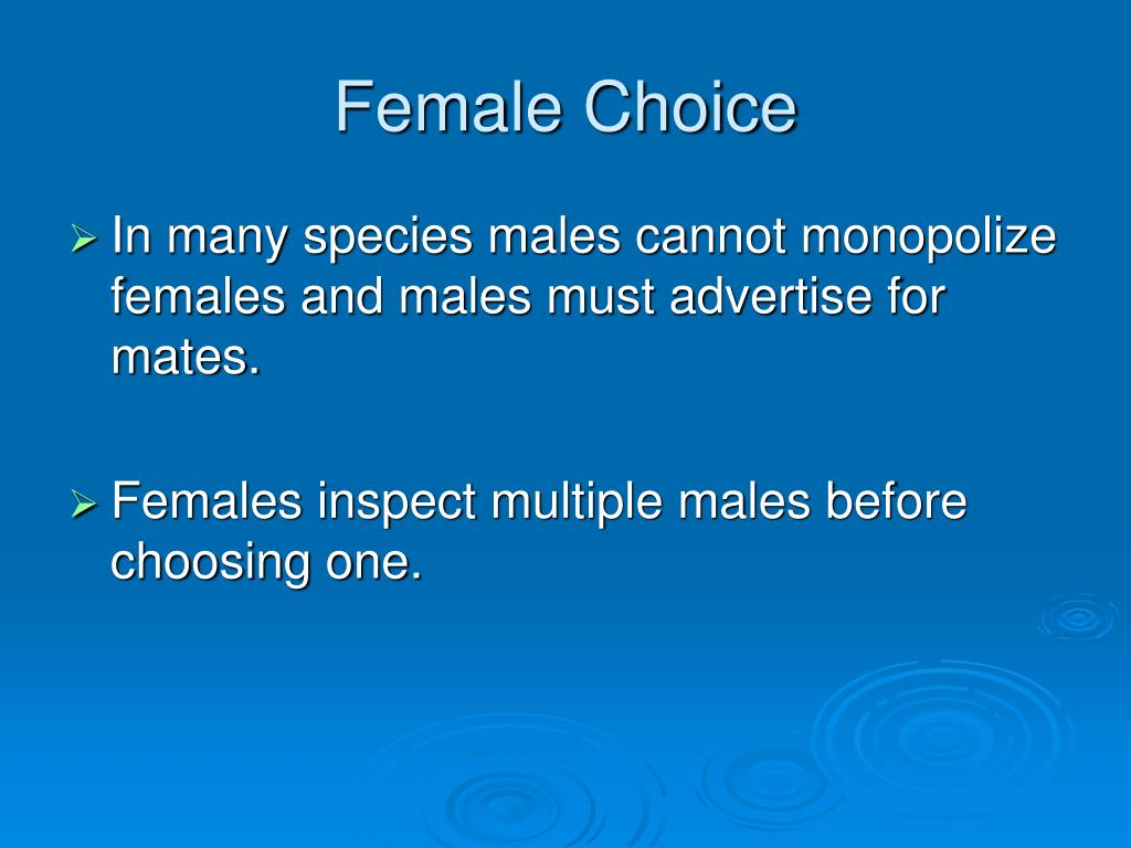 Female Choice