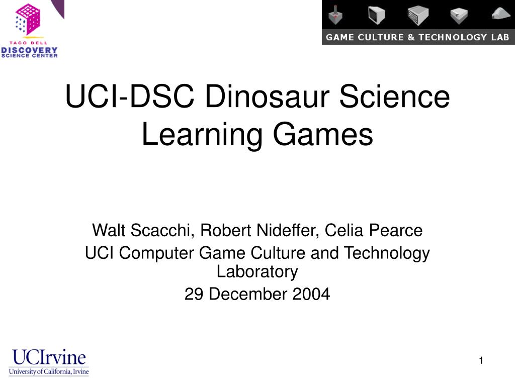 UCI-DSC Dinosaur Science Learning Games