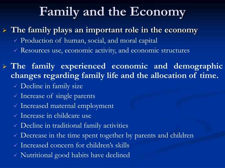 Family and the economy
