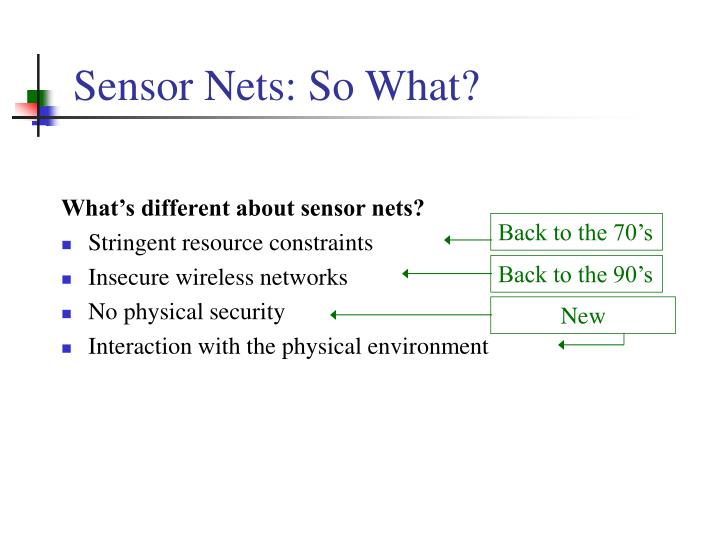 Sensor nets so what l.jpg