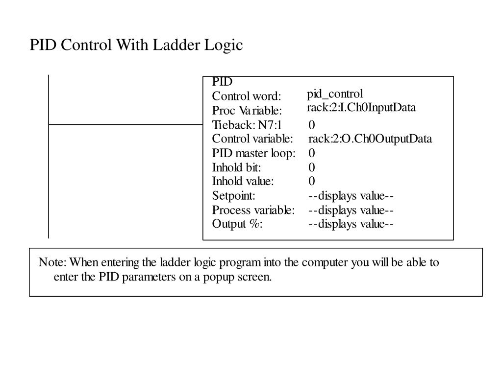 PID Control With Ladder Logic