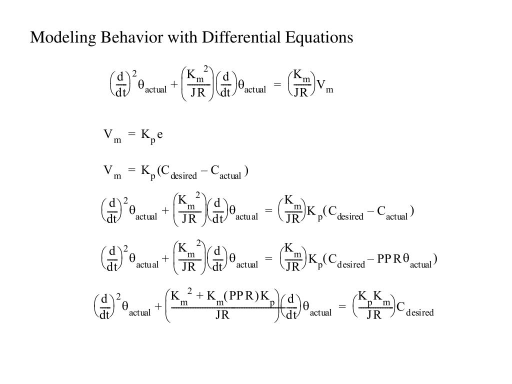 Modeling Behavior with Differential Equations