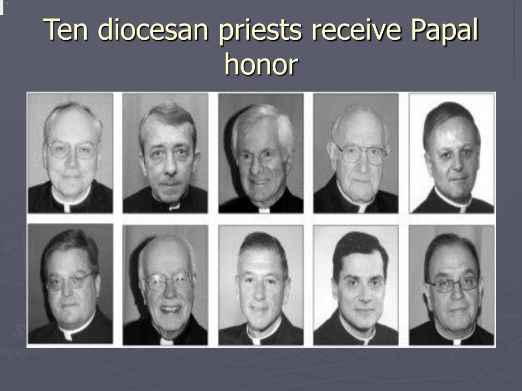 Ten diocesan priests receive Papal honor