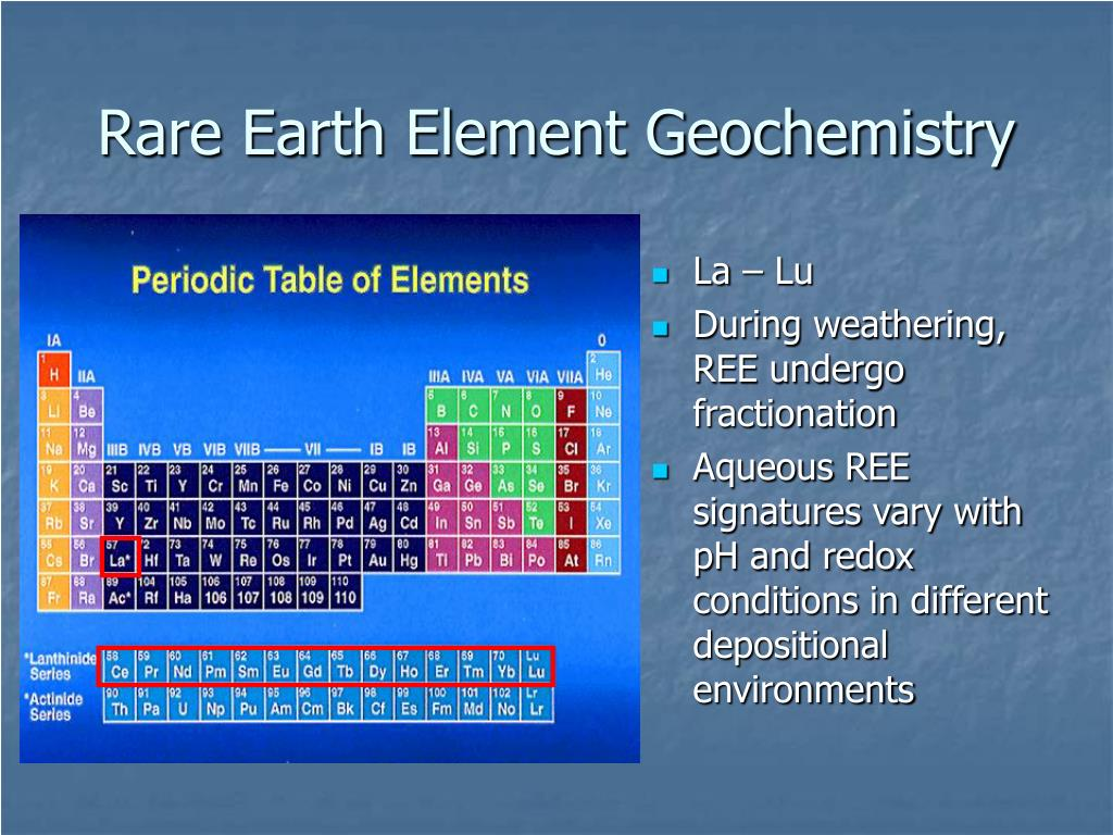 Rare Earth Element Geochemistry