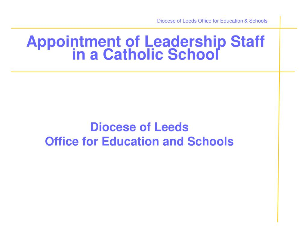 Diocese of Leeds Office for Education & Schools