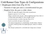 cold runner gate types configurations37