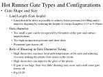 hot runner gate types and configurations30
