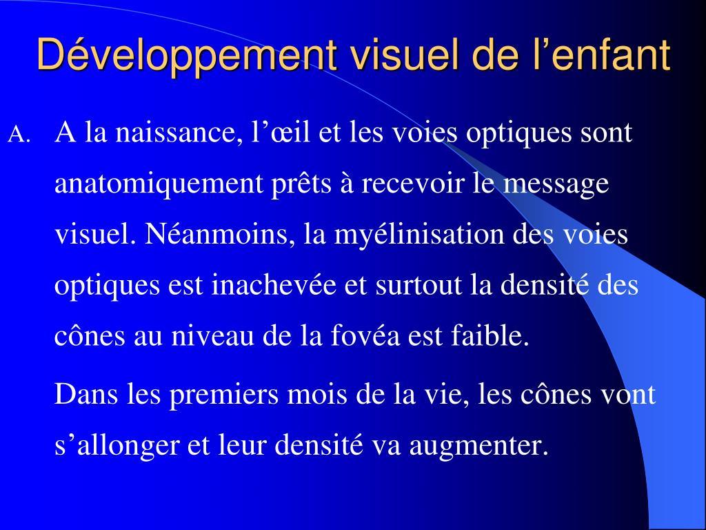 Développement visuel de l'enfant