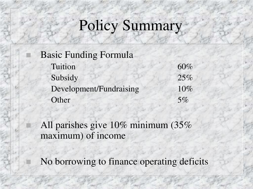 Policy Summary