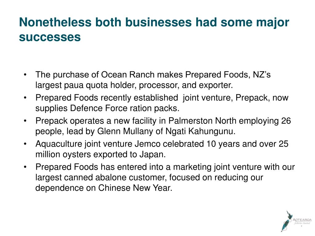 Nonetheless both businesses had some major successes