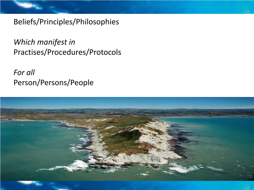 Beliefs/Principles/Philosophies