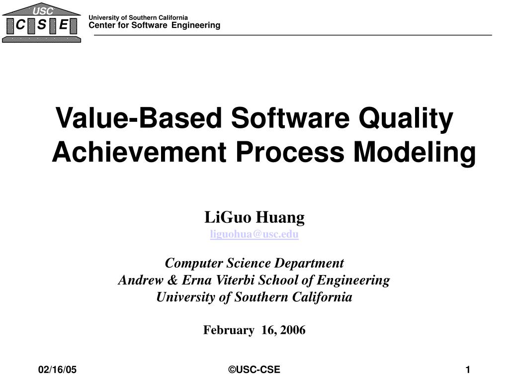 Value-Based Software Quality Achievement Process Modeling