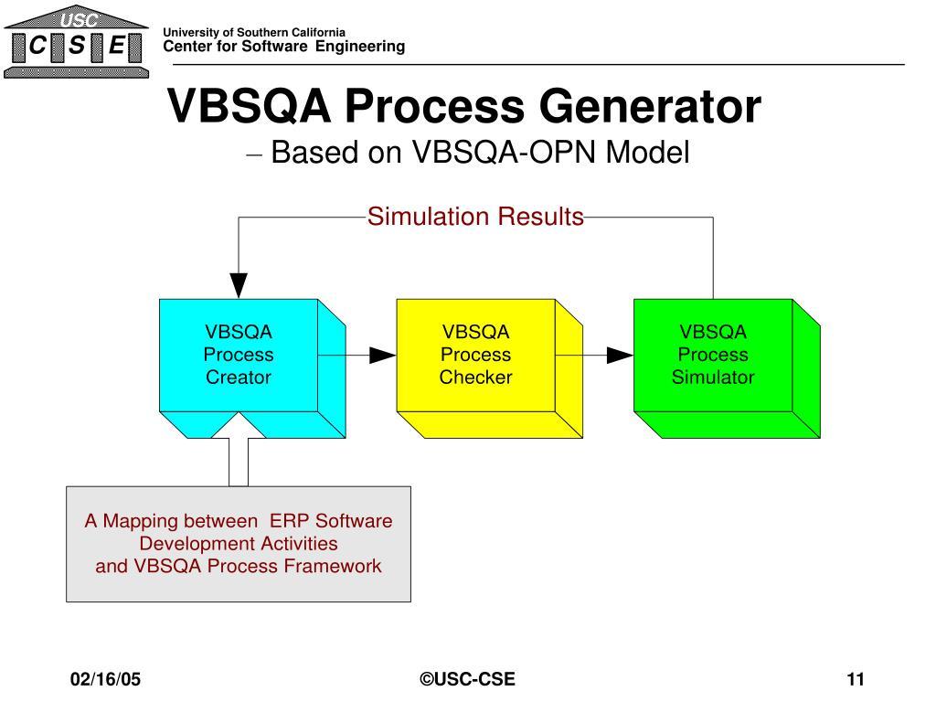 VBSQA Process Generator