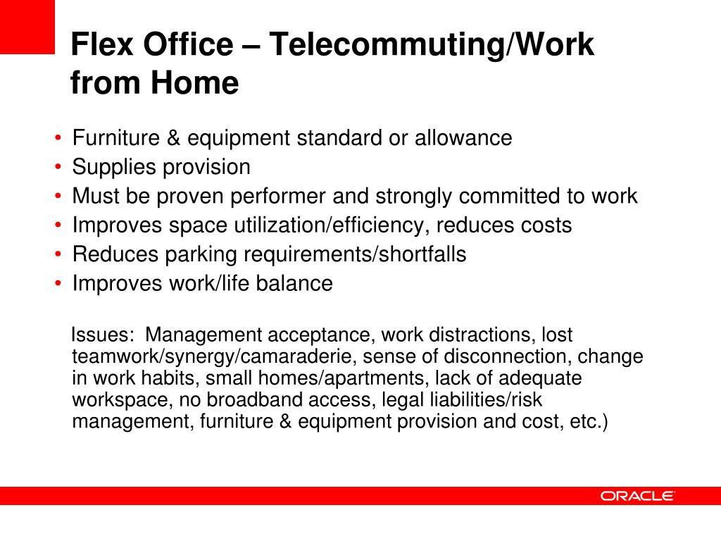 Flex Office – Telecommuting/Work from Home