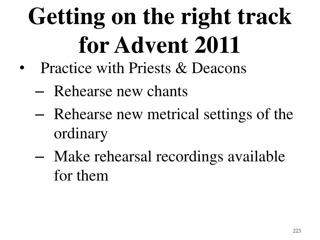 Getting on the right track for Advent 2011