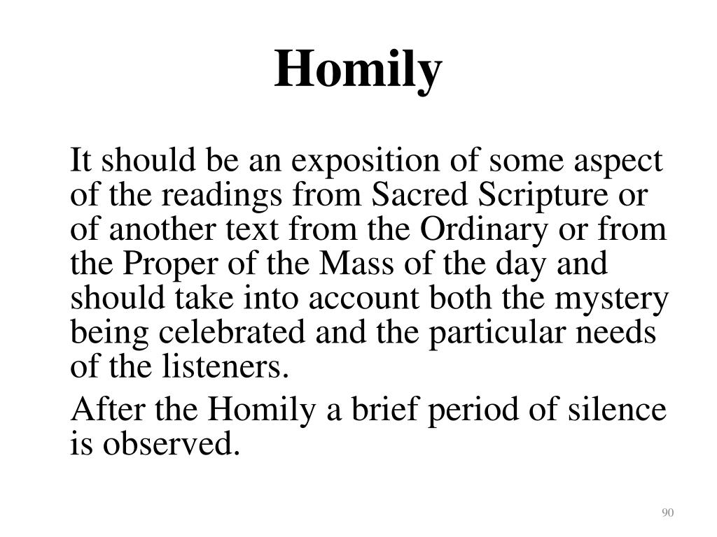 Homily