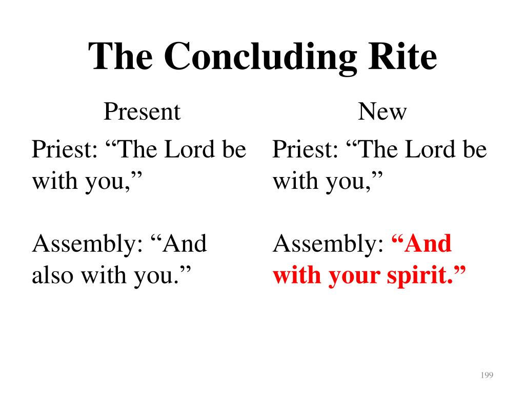 The Concluding Rite