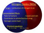 nitrogen oxides nox
