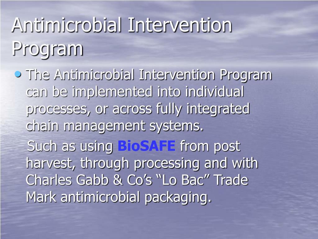 Antimicrobial Intervention Program