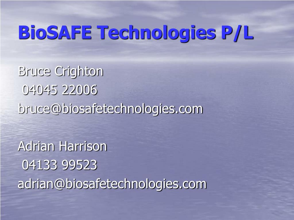 BioSAFE Technologies P/L
