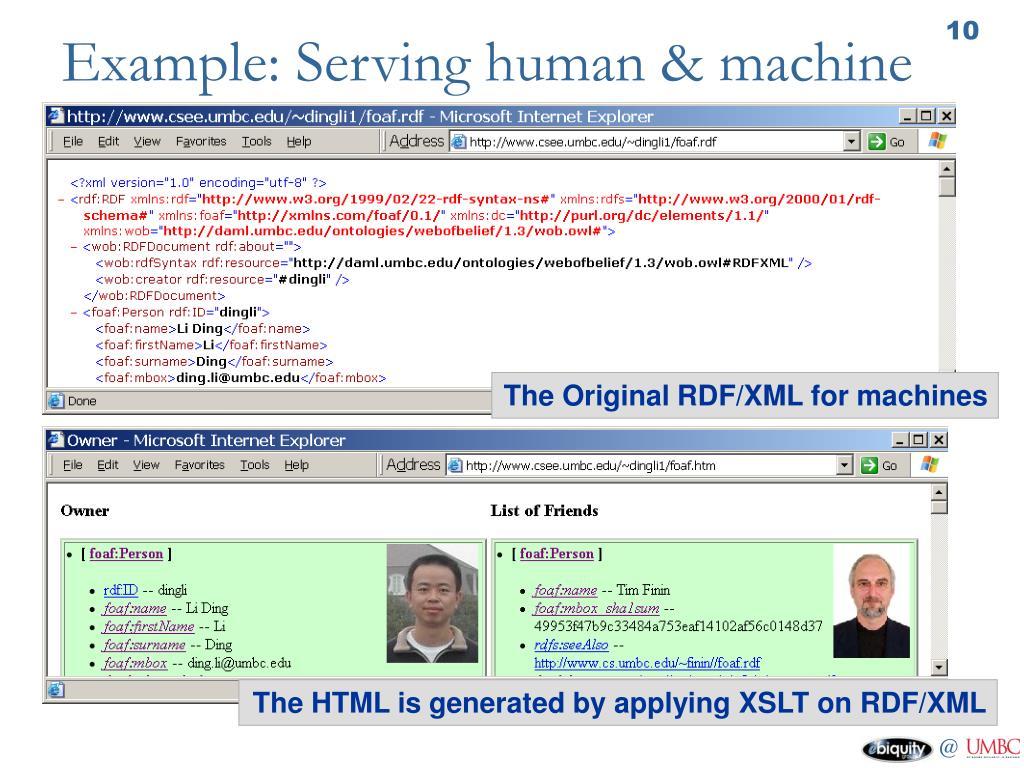 Example: Serving human & machine