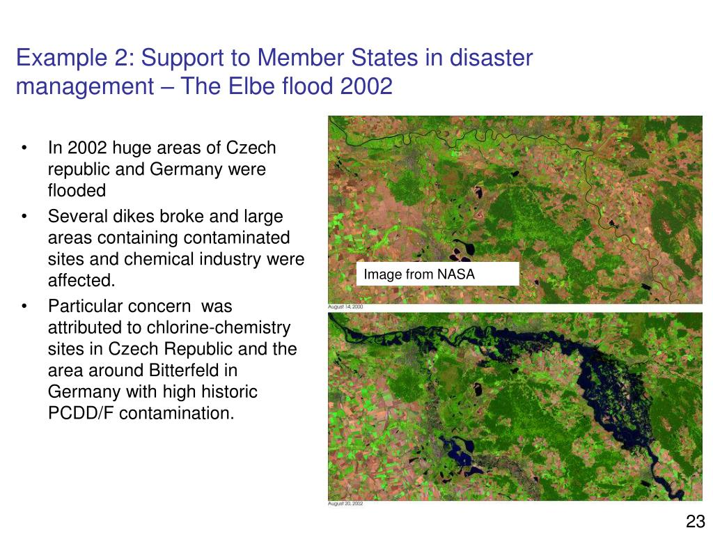 Example 2: Support to Member States in disaster management – The Elbe flood 2002