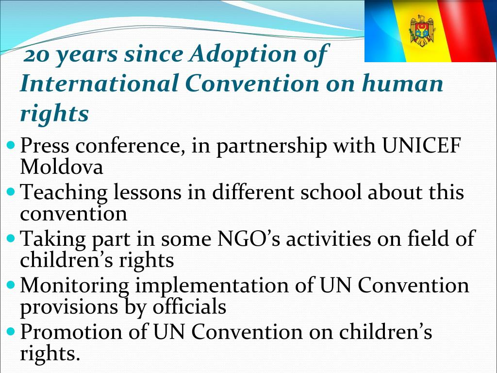 20 years since Adoption of International Convention on human rights
