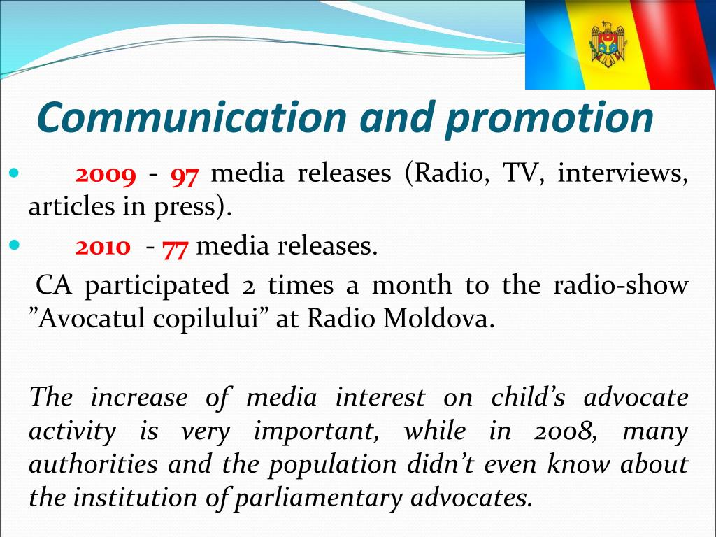 Communication and promotion