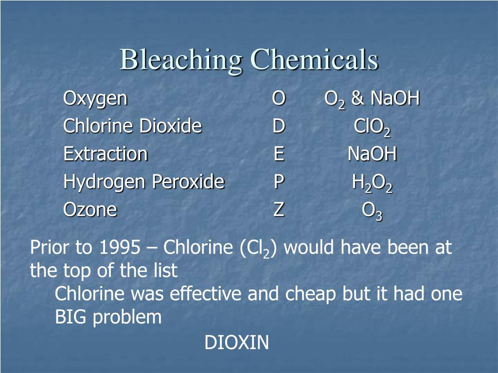 Bleaching Chemicals