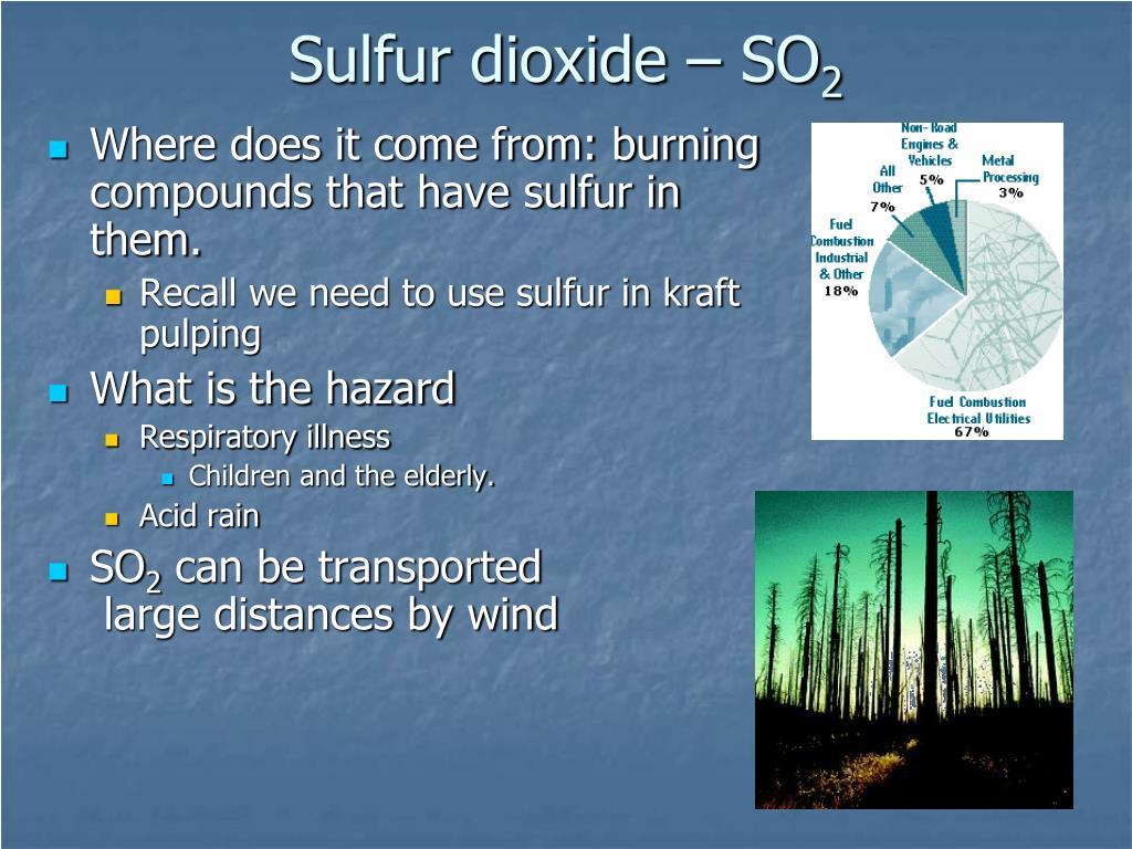 Sulfur dioxide – SO