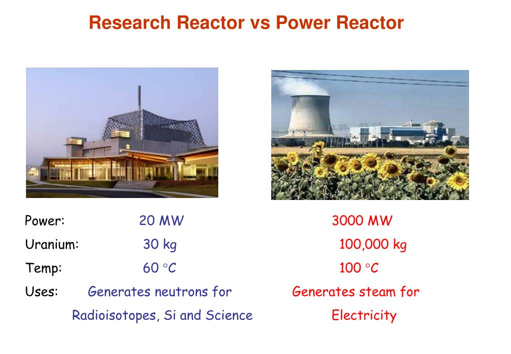 Research Reactor vs Power Reactor