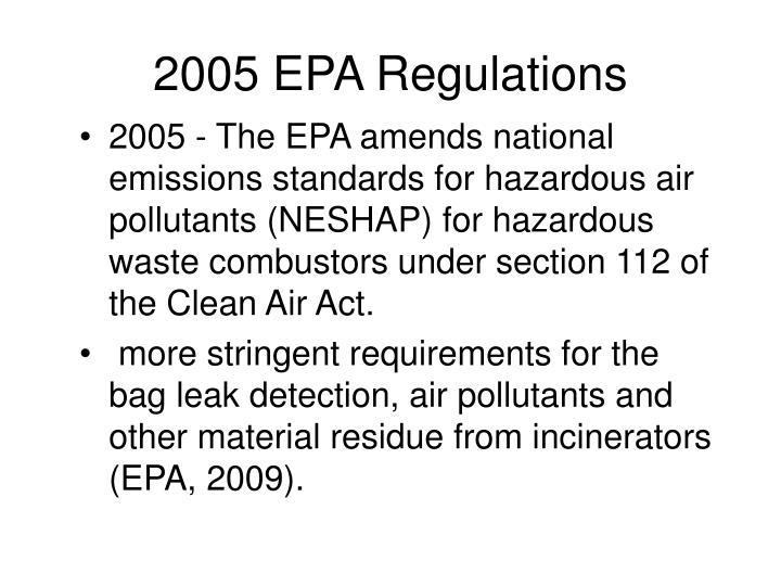 2005 EPA Regulations