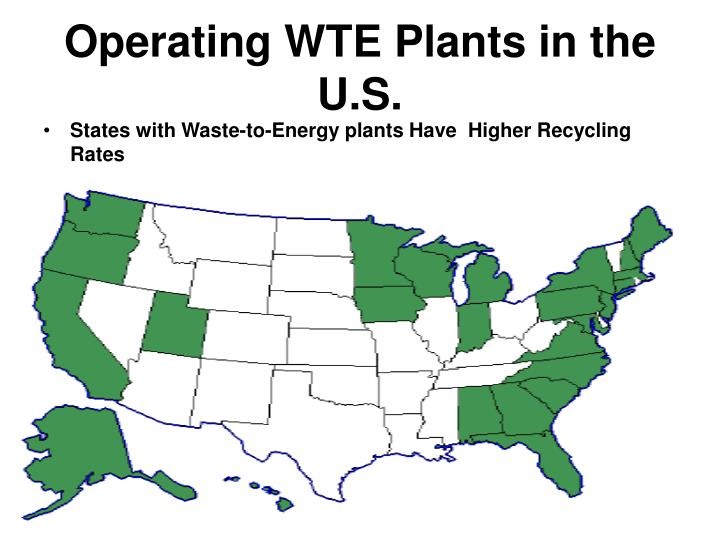 Operating WTE Plants in the U.S.