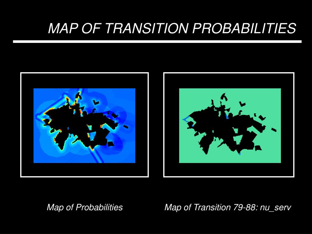MAP OF TRANSITION PROBABILITIES