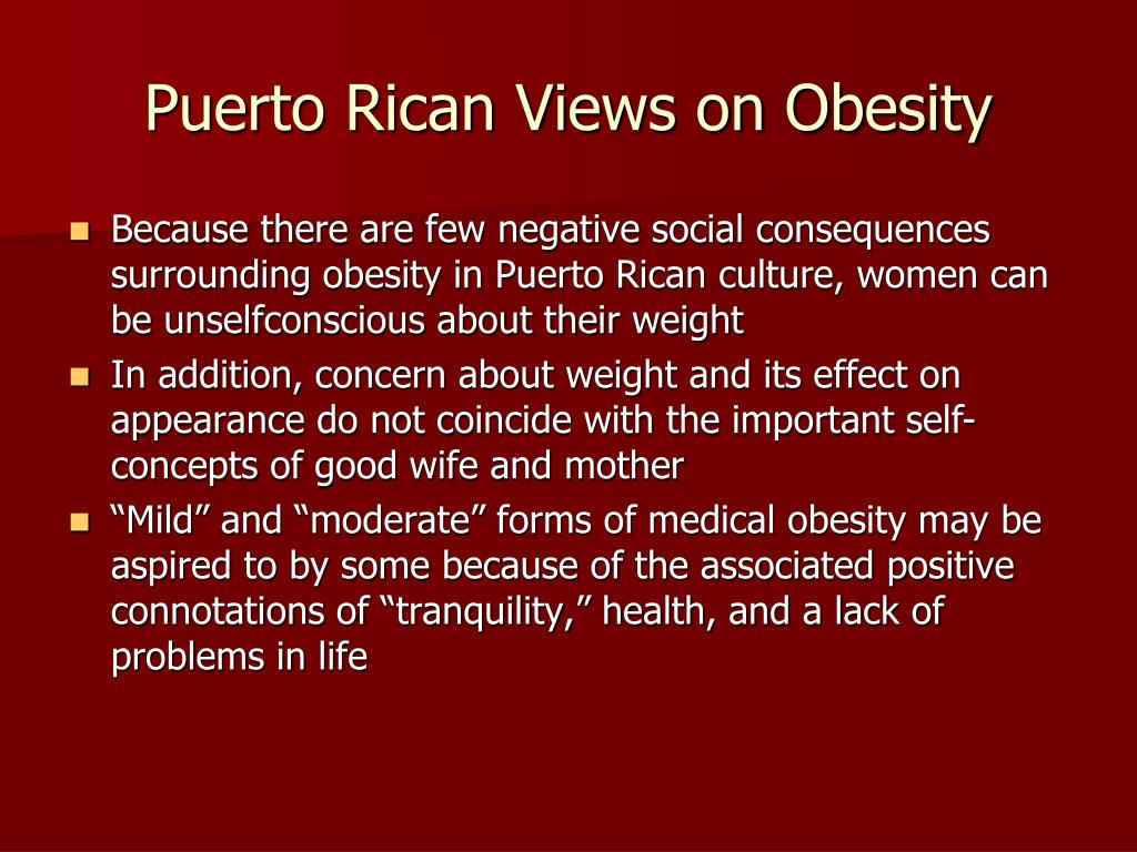 Puerto Rican Views on Obesity