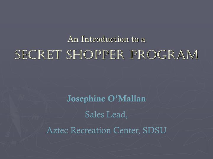 An introduction to a secret shopper program2