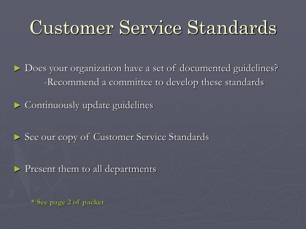 Customer Service Standards