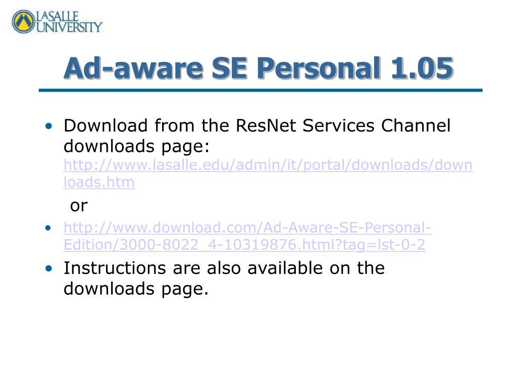 Ad-aware SE Personal 1.05