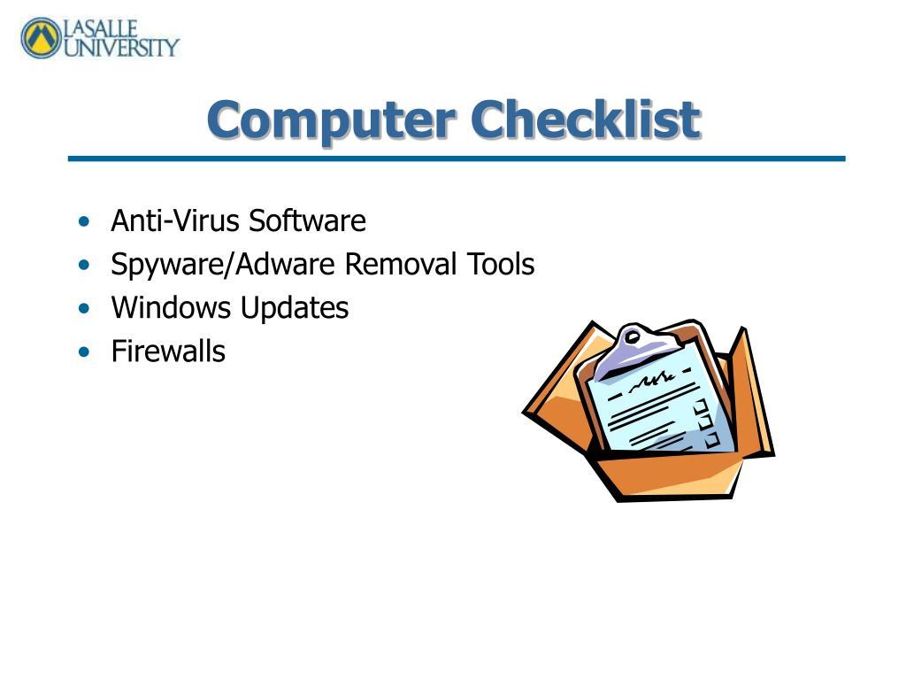 Computer Checklist
