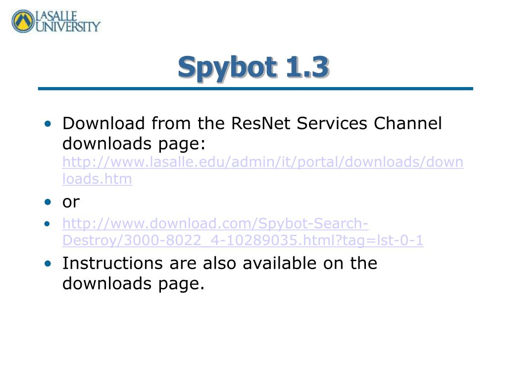 Spybot 1.3