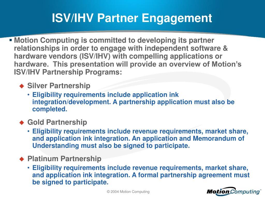 ISV/IHV Partner Engagement
