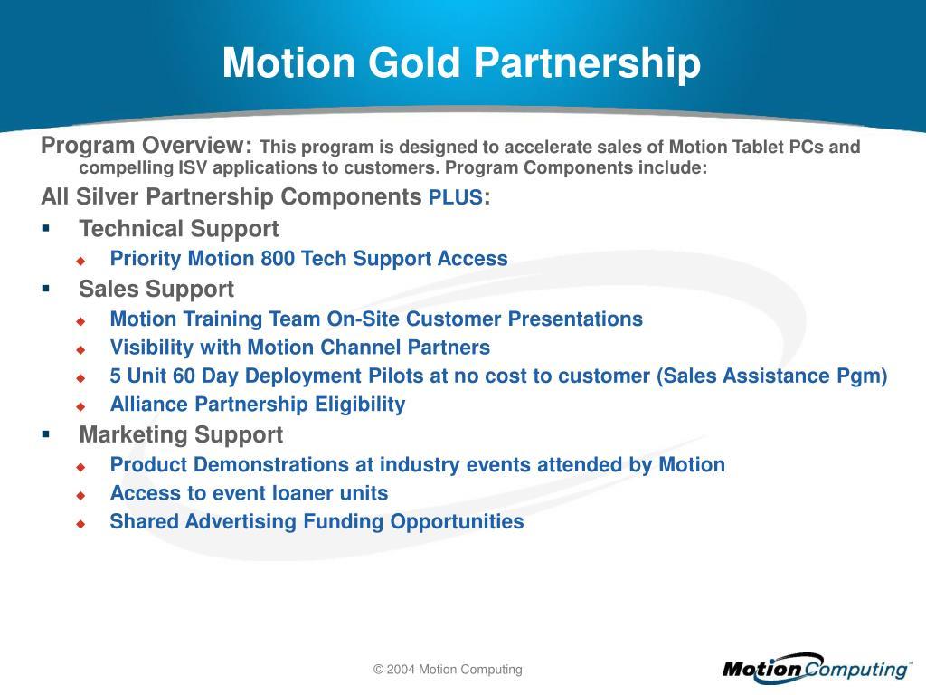 Motion Gold Partnership